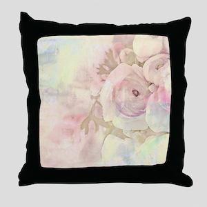 Tender Rose Pastel Throw Pillow