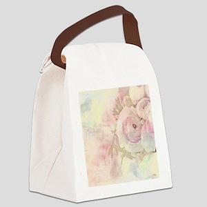 Tender Rose Pastel Canvas Lunch Bag