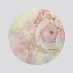 Tender Rose Pastel Round Ornament