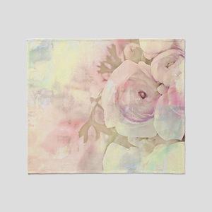 Tender Rose Pastel Throw Blanket