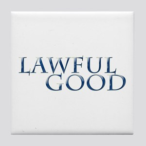 Lawful Good Tile Coaster