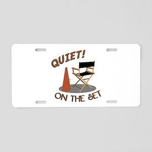 Quiet On Set Aluminum License Plate