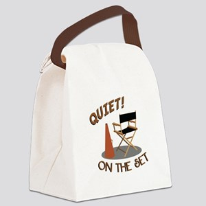 Quiet On Set Canvas Lunch Bag