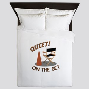 Quiet On Set Queen Duvet