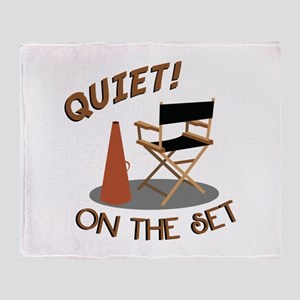 Quiet On Set Throw Blanket