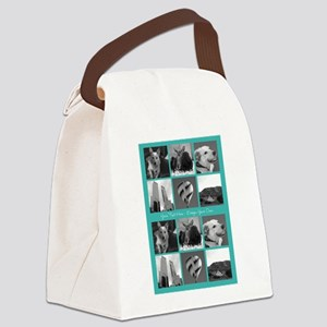 Your Photos and Your Text Canvas Lunch Bag