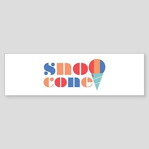 Sno Cone Bumper Sticker
