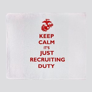 USMC Recruiting Duty Throw Blanket