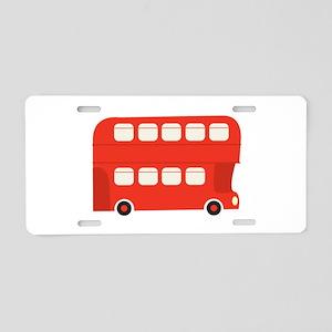 Double Decker Bus Aluminum License Plate