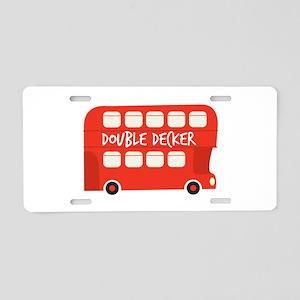 Double Decker Aluminum License Plate