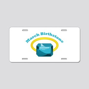 March Birthstone Aluminum License Plate