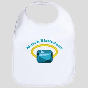 March Birthstone Bib