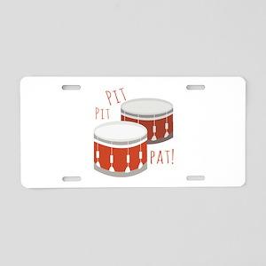 Pit Pit Pat Aluminum License Plate