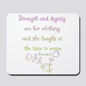 Proverbs 31 woman Mousepad