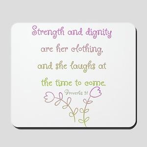 Proverbs 31 woman Mousepad