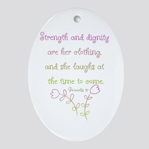 Proverbs 31 woman Ornament (Oval)