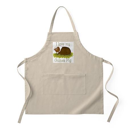 I Love my Guinea Pig BBQ Apron