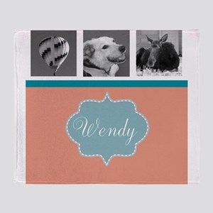 Your Photos and Monogram Throw Blanket