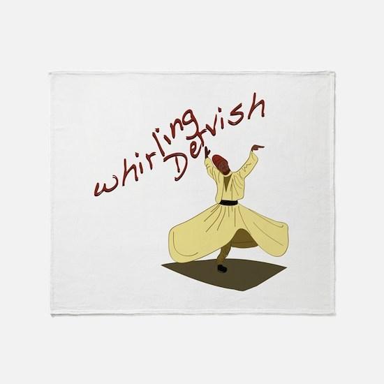 Whirling Dervish Throw Blanket