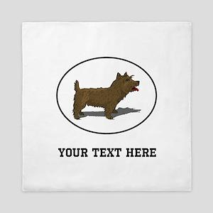 Custom Norwich Terrier Queen Duvet