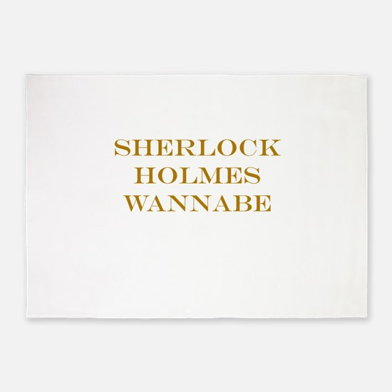 Sherlock Holmes Wannabe 5'x7'Area Rug
