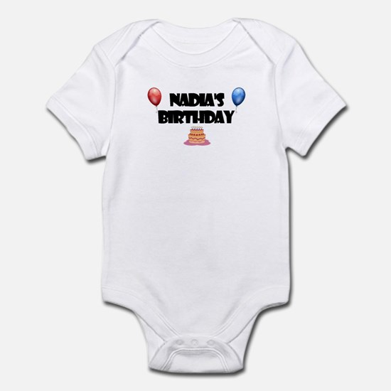 Nadia's Birthday Infant Bodysuit
