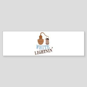 white Lightnin Bumper Sticker