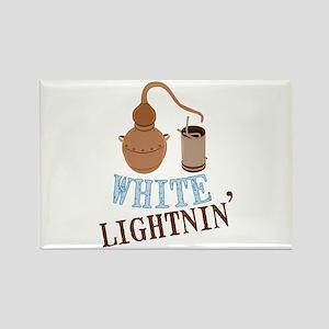 white Lightnin Magnets