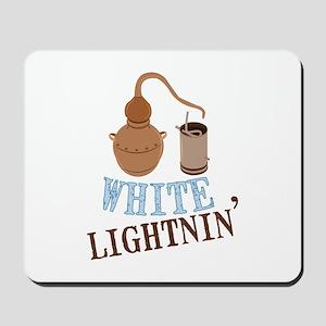 white Lightnin Mousepad