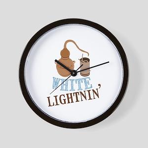 white Lightnin Wall Clock