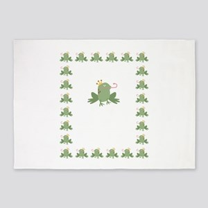 Frog Prince Baby Announcement 5'x7'Area Rug
