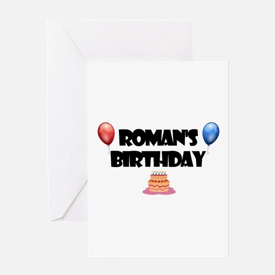 Roman's Birthday Greeting Card