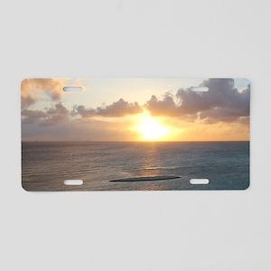 Aruba Sunset Aluminum License Plate