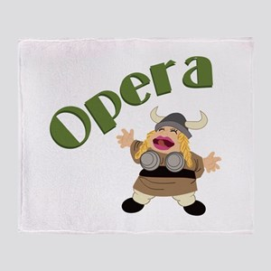 At The Opera Throw Blanket