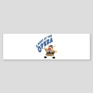 Fat Lady Sings Bumper Sticker