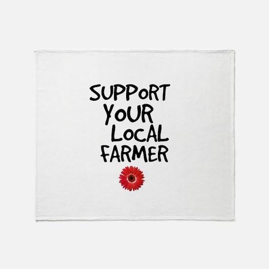 Support Local Farmer Throw Blanket