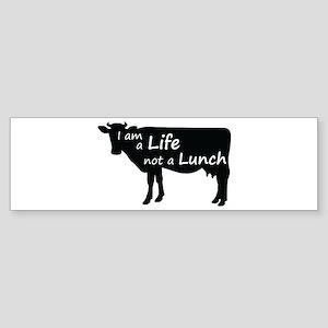 Life Not Lunch - Cow Bumper Sticker