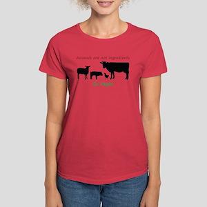 Animals are not ingredients: Go Vegan T-Shirt