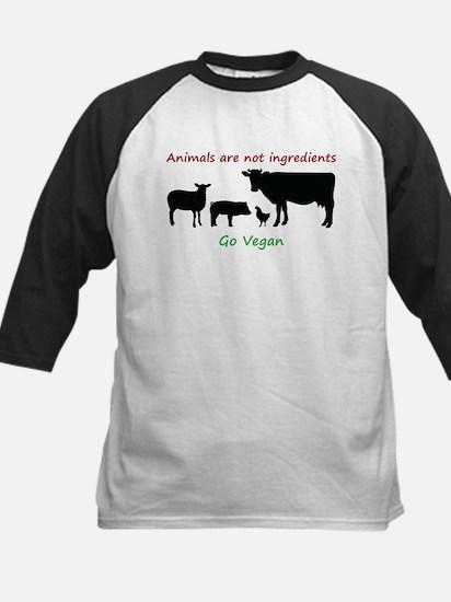 Animals are not ingredients: Go Vegan Baseball Jer