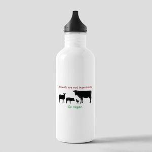 Animals are not ingredients: Go Vegan Water Bottle