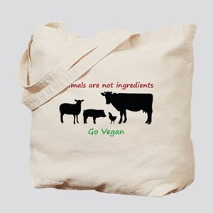 Animals are not ingredients: Go Vegan Tote Bag