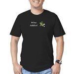 Wine Addict Men's Fitted T-Shirt (dark)