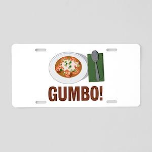 Gumbo Meal Aluminum License Plate