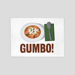 Gumbo Meal 5'x7'Area Rug