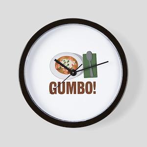 Gumbo Meal Wall Clock