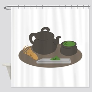 Japanese Tea Ceremony Shower Curtain