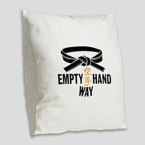 Black Belt Empty Hand Way Burlap Throw Pillow