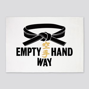 Black Belt Empty Hand Way 5'x7'Area Rug