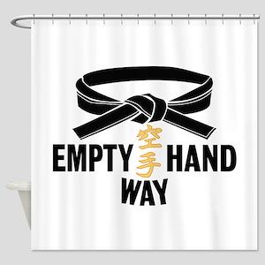 Black Belt Empty Hand Way Shower Curtain