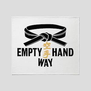 Black Belt Empty Hand Way Throw Blanket